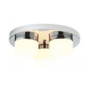Saxby Lighting Pure Triple IP44 28W Bathroom Ceiling Light