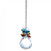 H & D 40mm Clear Crystal Ball Prism Pendant Hanging Feng Shui Sun Catcher