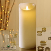 Battery Operated Real Wax Candle with Dancing Flame in Ivory 23cm - Christmas - Christmas