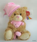 Keel Toys 25cm Cuddles Musical Bear Soft Toy Pink