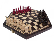 3 Three Players Chess Set - SMALL - RULES INCLUDED