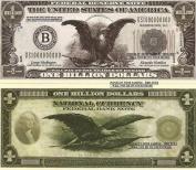 Novelty Dollar American Eagle Billion Dollar Stars Stripes Bills X 4