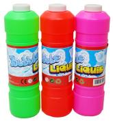 Large Bubble Mix Liquid Bubble Blowing Solution - 1 Litre Bubbles Mixture Refill