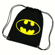 BATMAN CORDED SHOULDER BAG,SWIMMING BAG,PE BAG,GYMSAC,DRAWSTRING BAG, WATER RESISTANT