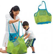 Handlife New Sand Away Carry All Beach Mesh Bag Tote Swim Toys Boating Etc, Xl Size