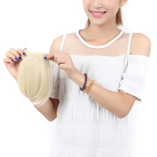 ". 8""(20cm) Front Neat Bleach Blonde Bangs/fringe Clip in Hair Extensions One Piece Striaght Fringe Cute Hairpiece Accessories. Limited"