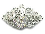 Faship Mermaid Barrette Gorgeous AB Rhinestone Crystal