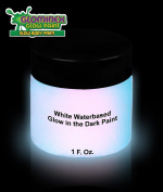 Glominex Glow Body Paint 30ml Jar -White