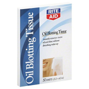 Rite Aid Tissue, Oil Blotting, 50 ea