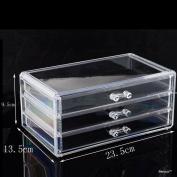 BerucciTM Clear Three Bottom Drawers Acrylic Jewellery Makeup Cosmetic Organiser Holder Storage
