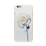 Lowpricenice For iphone6 Plus, Cute Rose Flower Hard Case Skin Cover
