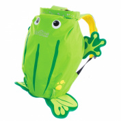 Trunki PaddlePak Backpack - Water Resistent Kids Backpack (Ribbit), Green