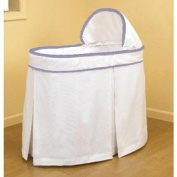 Forever Mine Lavender Trim Bassinet Liner/Skirt and Hood - Size 16 x 32