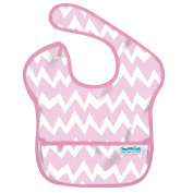 Bumkins Waterproof Super Bib, Pink Chevron, 6-24 Months