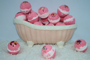 Bath Bomb Fizzy 14 Pack of Fizzies 70ml Regal Pomegranate scent