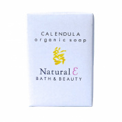 Calendula Soap (Large 190ml)- Organic Soap with Organic Calendula Oil Natural Soap Moisturising and Gentle Body Soap Unscented Soap