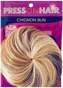 Press On Hair Chignon Bun Hair Extension, Blonde Blend, 35ml