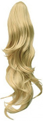 Press On Hair Ponytail Hair Extension, Light Blonde, 90ml