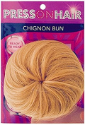 Press On Hair Chignon Bun Hair Extension, Golden Blonde, 35ml