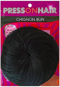 Press On Hair Chignon Bun Hair Extension, Nat Black, 35ml