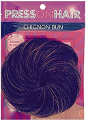 Press On Hair Chignon Bun Hair Extension, Medium Brown, 35ml