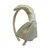 White Woven Bow Headband with Leather Edge Hair Bands