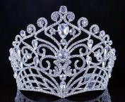 Janefashions Lush Clear Austrian Crystal Rhinestone Tiara Crown Bridal Prom Pageant T11884