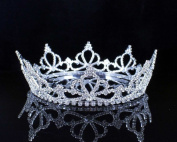 Janefashions Full Crown Clear Austrian Crystal Rhinestone Tiara Pageant Bridal Party T11888