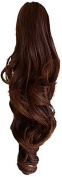 Press On Hair Ponytail Hair Extension, Medium Brown, 90ml