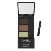 Eyebrow Kit By Lauren Taylor Cosmetics - Sturdy Expandable Compact Includes a Long Lasting Double Powder Palette, Setting Wax, Applicator Brush and Attached Mirror. Colour Shading Ranges From Light to Dark Brown - Create Perfect Eyebrows with Our Best  ..