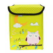 Wrapables Children's Owl Fabric Storage Bin for Clothes and Toys, Yellow