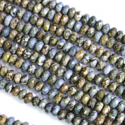 Faceted Natural Genuine Army Jasper Rondelle 4*6mm Gemstone Jewellery Making Loose Beads