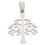 HooAMI 2pcs Silver Tone Stainless Steel Tree of Life Pendants Charms DIY Bracelet Necklace Jewellery Making