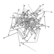 VALYRIA 100pcs Stainless Steel Ball End Head Pins Findings Silver Tone 21 Gauge
