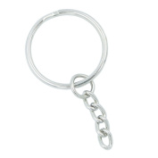 Bluemoona 100 Pcs - Keyring Keychain With 2.5cm Chain Hitch For Purse Zipper Pulis Snap Spring Hooks Lanyard