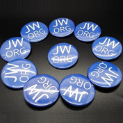 100pcs 3.8cm Jw.org Jehovah's Witness Buttons Watchtower with safty pin