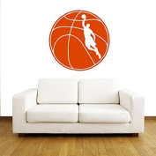 Wall Decals Sports Basketball Player Ball Game Team Sportsman Gym Interior Sporting Event Any Room Vinyl Decal Sticker Home Decor ML200