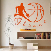 Wall Decals Sports Basketball Player Ball Game Team Monogram Boy Personalised Name Baby Any Room Gym Vinyl Decal Sticker Home Decor ML197
