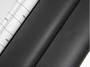 Dark Grey Adhesive Vinyl Upholstery Faux Leather Fabric Auto Car Seat Covers Interior Sofa 1yd