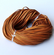 CHENGYIDA 10 Yards (9.2 Metter)Genuine Leather Natural Flat Cowhide Cord - Jewellery Making 3mm