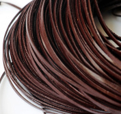 CHENGYIDA 10 Yards (9.2 Metter)Genuine Leather Coffee Flat Cowhide Cord - Jewellery Making 3mm