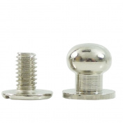 "Bluemoona 50 Sets - Head Button 8mm 5/16"" Brass Stud Screwback Screw Back Spots for Leather Rivet"