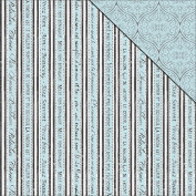 Tranquilly Double-Sided Cardstock 30cm x 30cm -French Stripe