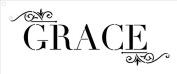 Grace - Word Art Stencil - Classic Embellished - 41cm x 18cm