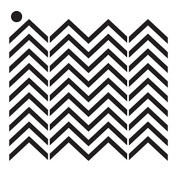 Small Chevrons Mini Pattern Stencil - 10cm x 10cm