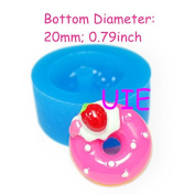 Strawberry Donut Flexible Silicone Mould Cake Decorating Fondant Cake Topper 20mm