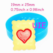 279LBQ Heart Cookie Mould Heart Biscuit Mould Silicone Flexible Mould 25mm - Wedding Cake Fimo Polymer Clay Moulds, Fimo Mould