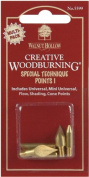 Walnut Hollow - Creative Woodburning Special Technique Points-5/Pk
