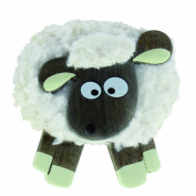 Sitting Fluffy White Sheep Magnet