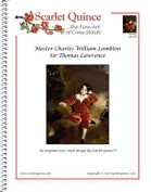Scarlet Quince LAW002lg Master Charles William Lambton by Sir Thomas Lawrence Counted Cross Stitch Chart, Large Size Symbols